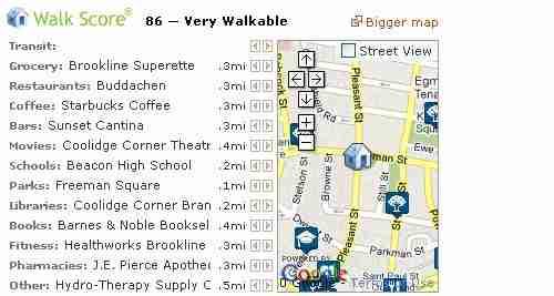 brookline walk score
